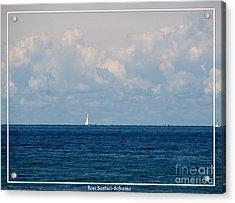 Sailboat On Lake Ontario Acrylic Print by Rose Santuci-Sofranko
