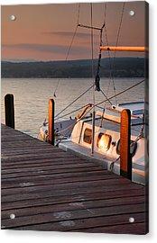 Sailboat Sunrise II Acrylic Print by Steven Ainsworth