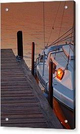 Sailboat Sunrise Acrylic Print by Steven Ainsworth
