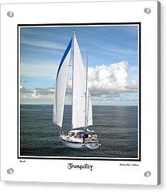 Sailboat Tranquility Acrylic Print