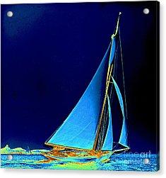 Sailboat Wayward 1890 Acrylic Print by Padre Art