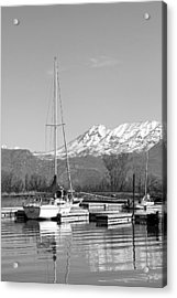 Sailboats At Utah Lake State Park Acrylic Print by Tracie Kaska