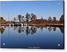Sailboats Acrylic Print by Larry Van Valkenburgh