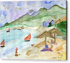 Sailboats Acrylic Print by Susan Risse