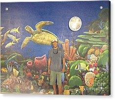 Sailfish Splash Park Mural 7 Acrylic Print by Carey Chen