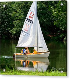 Sailing   Acrylic Print by Lennie Malvone