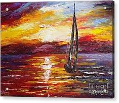 Sailing Acrylic Print by AmaS Art