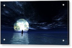 Sailing At Night... Acrylic Print by Tim Fillingim