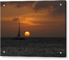 Acrylic Print featuring the photograph Sailing Away by David Gleeson