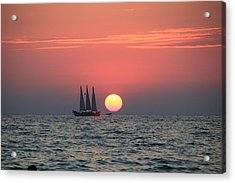 Sailing Away From The Sun Acrylic Print