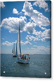 Acrylic Print featuring the photograph Sailing by Cindy Haggerty