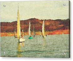 Acrylic Print featuring the photograph Sailing Day by Julie Lueders