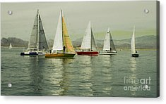 Acrylic Print featuring the photograph Sailing Day Regatta by Julie Lueders