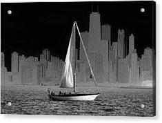Sailing In Lake Michigan Acrylic Print