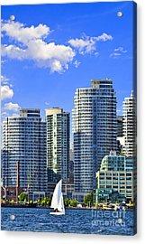 Sailing In Toronto Harbor Acrylic Print by Elena Elisseeva