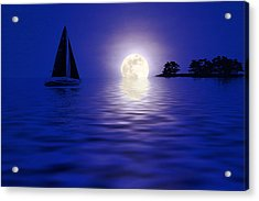 Sailing Into The Moonlight Acrylic Print
