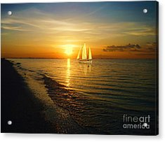 Sailing Acrylic Print by Jeff Breiman