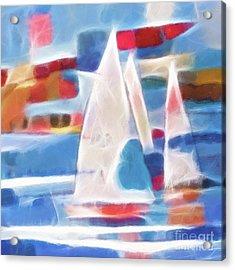 Sailing Joy Digital Acrylic Print by Lutz Baar