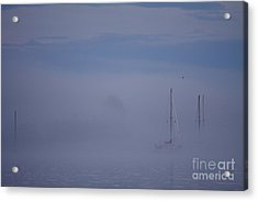 Sailing Mysterious Lake Superior Acrylic Print by Kate Purdy