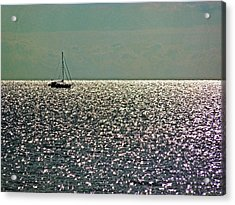 Acrylic Print featuring the photograph Sailing On A Sea Of Diamonds by William Fields