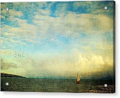 Acrylic Print featuring the photograph Sailing On The Sea by Michele Cornelius