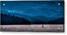 Sailing Priest Lake Acrylic Print by David Patterson