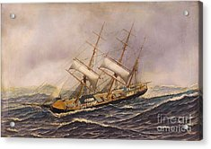Sailing Ship - Saint Mary Acrylic Print by Pg Reproductions