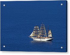 Acrylic Print featuring the photograph Sailing Ship- St Lucia by Chester Williams