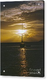 Sailing Sunset Acrylic Print by William Norton