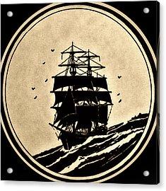 Sailing Vessel Acrylic Print by Susan Leggett