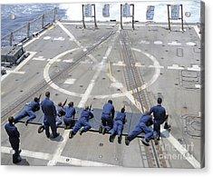 Sailors Fire M4a1 Carbine Assault Acrylic Print by Stocktrek Images