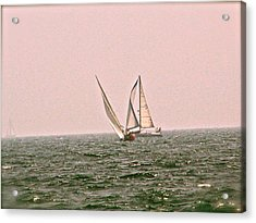 Sails Acrylic Print by Amber Hennessey