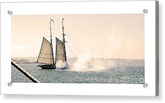 Acrylic Print featuring the photograph Sails And Cannons by MaryJane Armstrong