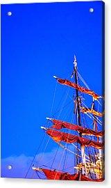 Sails Acrylic Print by Barry R Jones Jr