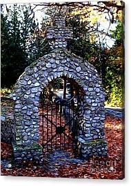 Acrylic Print featuring the photograph Saint Ann Cemetery by Anne Raczkowski