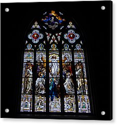 Saint Johns Stained Glass Acrylic Print by David Lee Thompson