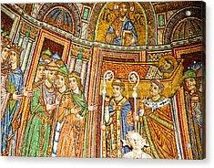 Saint Mark's Basilica Mosaic Acrylic Print by David Waldo