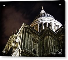 Saint Paul's Cathedral At Night Acrylic Print by Thanh Tran