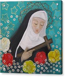 Saint Rita Acrylic Print by Maria Matheus Maria Santeira