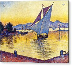 Saint Tropez At Sunset Acrylic Print by Pg Reproductions