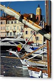 Acrylic Print featuring the photograph Saint Tropez Harbor by Lainie Wrightson