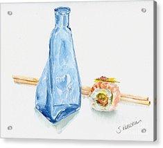 Sake And Sushi Acrylic Print by Sheryl Heatherly Hawkins