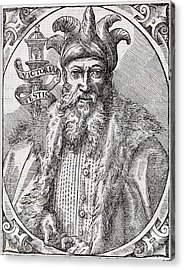 Saladin, Sultan Of Egypt And Syria Acrylic Print by Middle Temple Library
