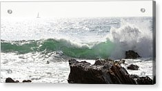 Acrylic Print featuring the photograph Saling 1 by Michael Rock
