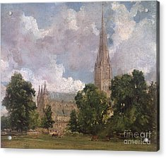 Salisbury Cathedral From The South West Acrylic Print by John Constable