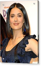 Salma Hayek At A Public Appearance Acrylic Print by Everett
