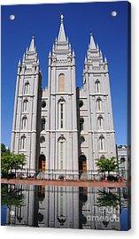 Salt Lake Mormon Temple Acrylic Print by Gary Whitton