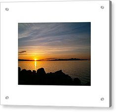 Salt Lake Sunset Acrylic Print by Louise Mingua