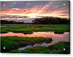 Salt Marsh Sunset Acrylic Print