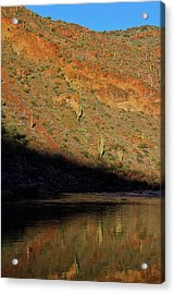 Acrylic Print featuring the photograph Salt River Sunset by Atom Crawford